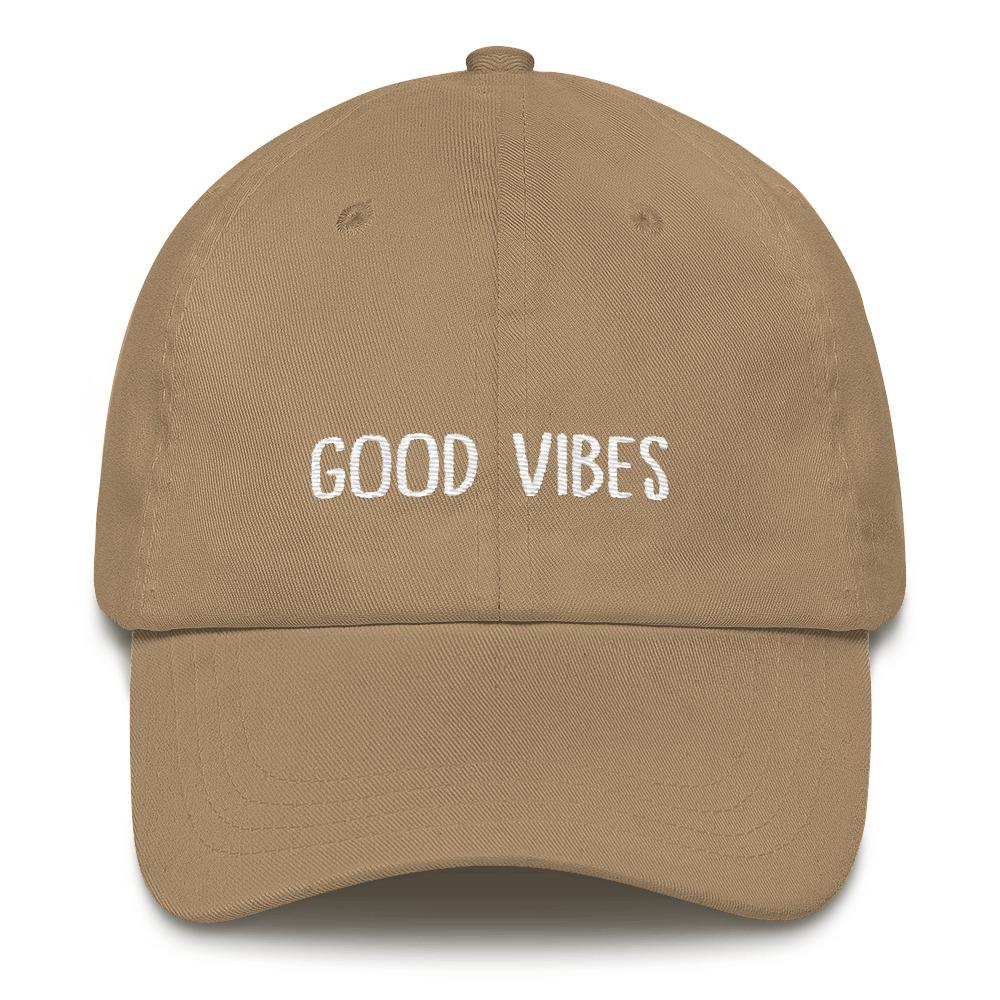 aa3a00056d58f Good vibes Dad hat - The Tee Planet