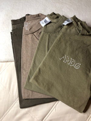 Beige AMDG x Thrifted+Threaded Tee