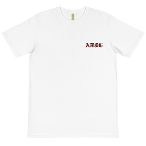 AMDG BURGUNDY EMBROIDERED--100% CERTIFIED ORGANIC COTTON