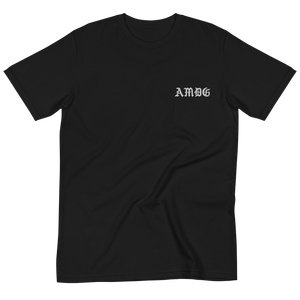 AMDG Black Embroidered--100% Certified Organic Cotton