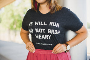 "Women's ""We Will Run"" Heather Black"