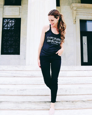 "Women's Yoga Tank ""Stronger Than Fear"""
