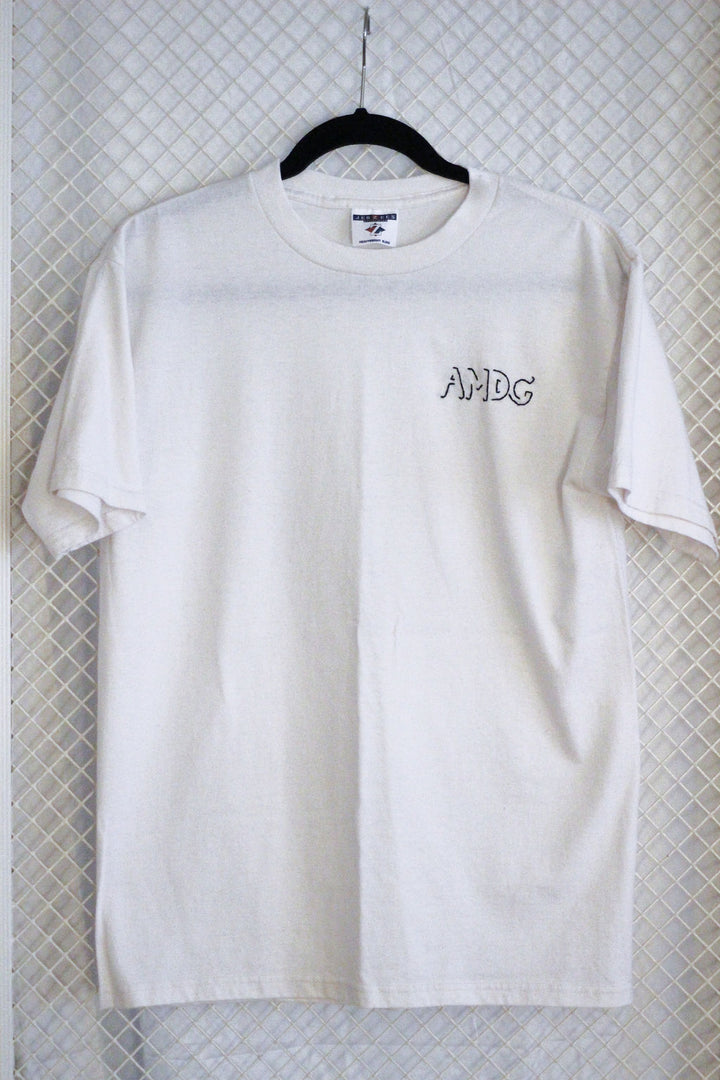 White AMDG x Thrifted+Threaded Tee