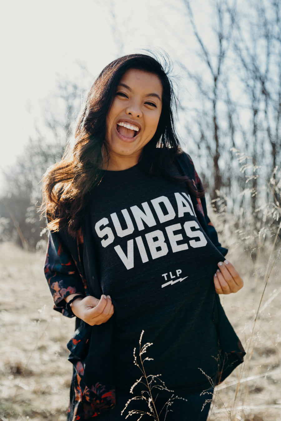 "Unisex ""Sunday Vibes""  // Black Heather"