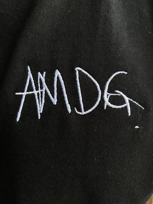 AMDG 2020 Black Embroidered--100% Certified Organic Cotton