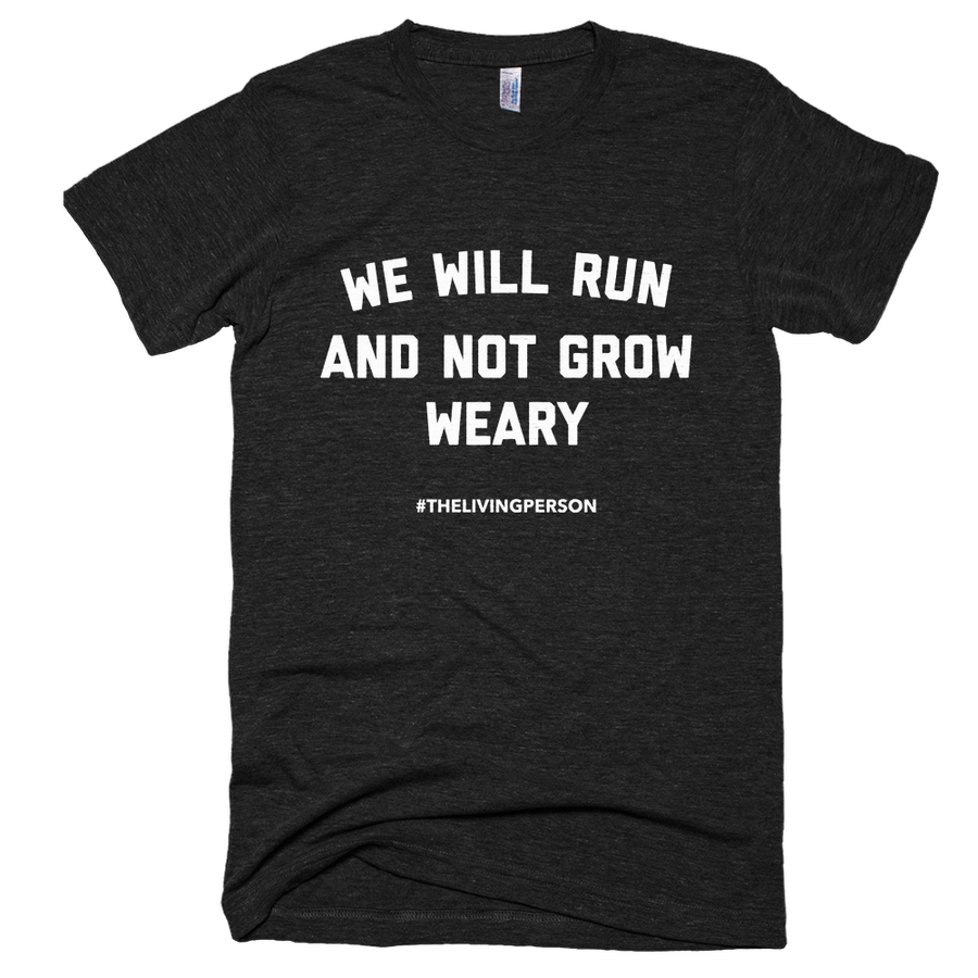 "Unisex ""We Will Run"" Heather Black"