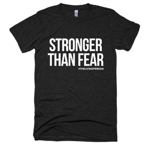 "Unisex ""Stronger Than Fear""  // Heather Black"