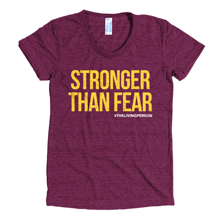 "Women's ""Stronger Than Fear""  // Cranberry"