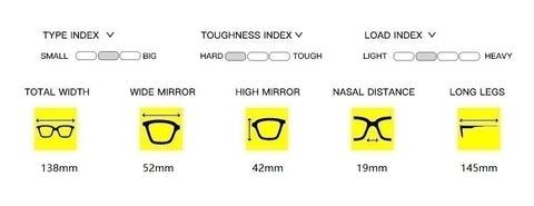 anti blue light glasses dimensions
