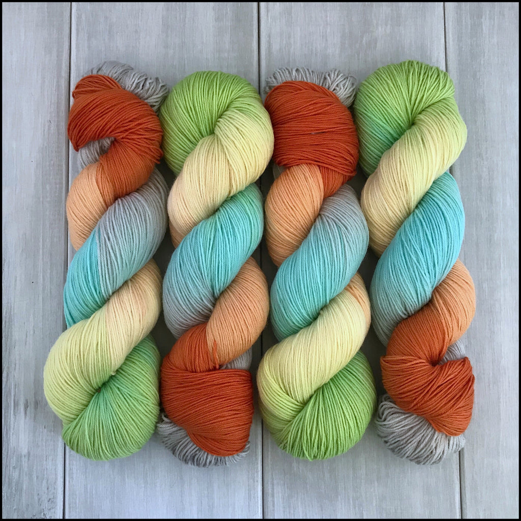 Handpainted Pakokku Sock Yarn - 'Yes! Encouragement'