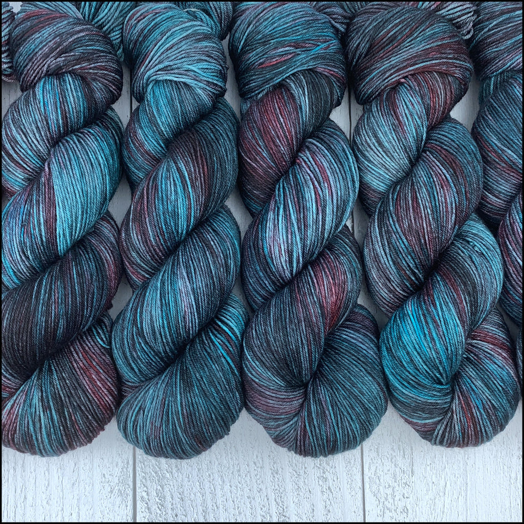 Pakokku Sock - 'Selene' - Kettle Dyed