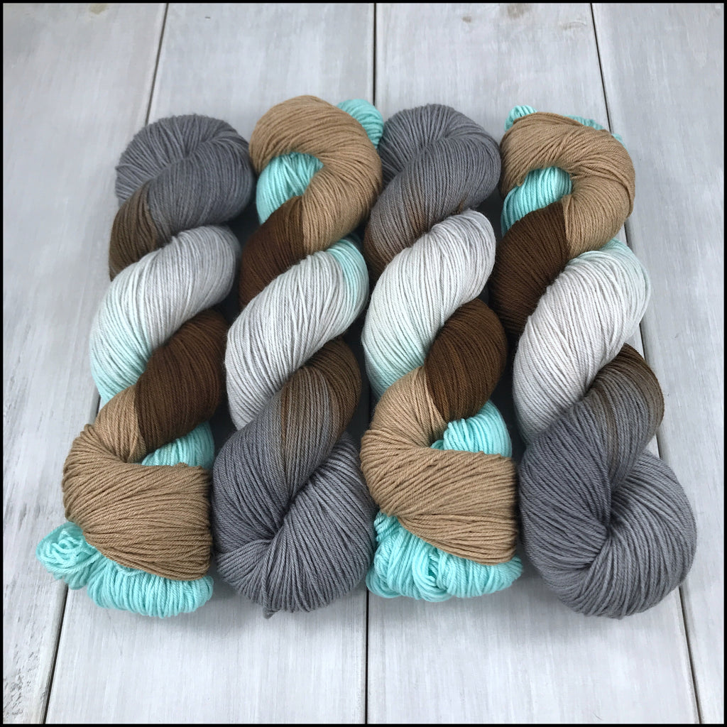 Handpainted Pakokku Sock Yarn - 'North of the Wall'