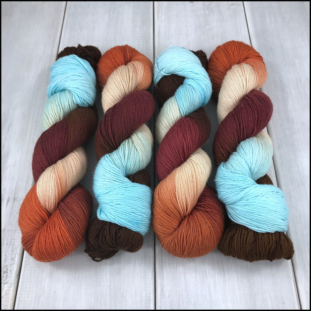 Handpainted Pakokku Sock Yarn - 'Muhkina'
