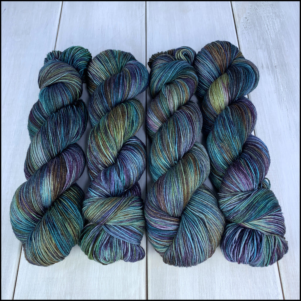 Pakokku Sock - 'Shadowfell' - Kettle Dyed