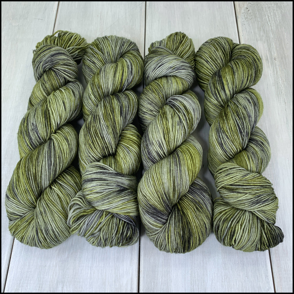 Pakokku Sock - 'Always Greener' - Kettle Dyed