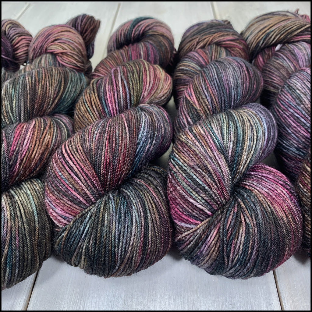 Pakokku Sock - 'Vampires of Venice' - Kettle Dyed