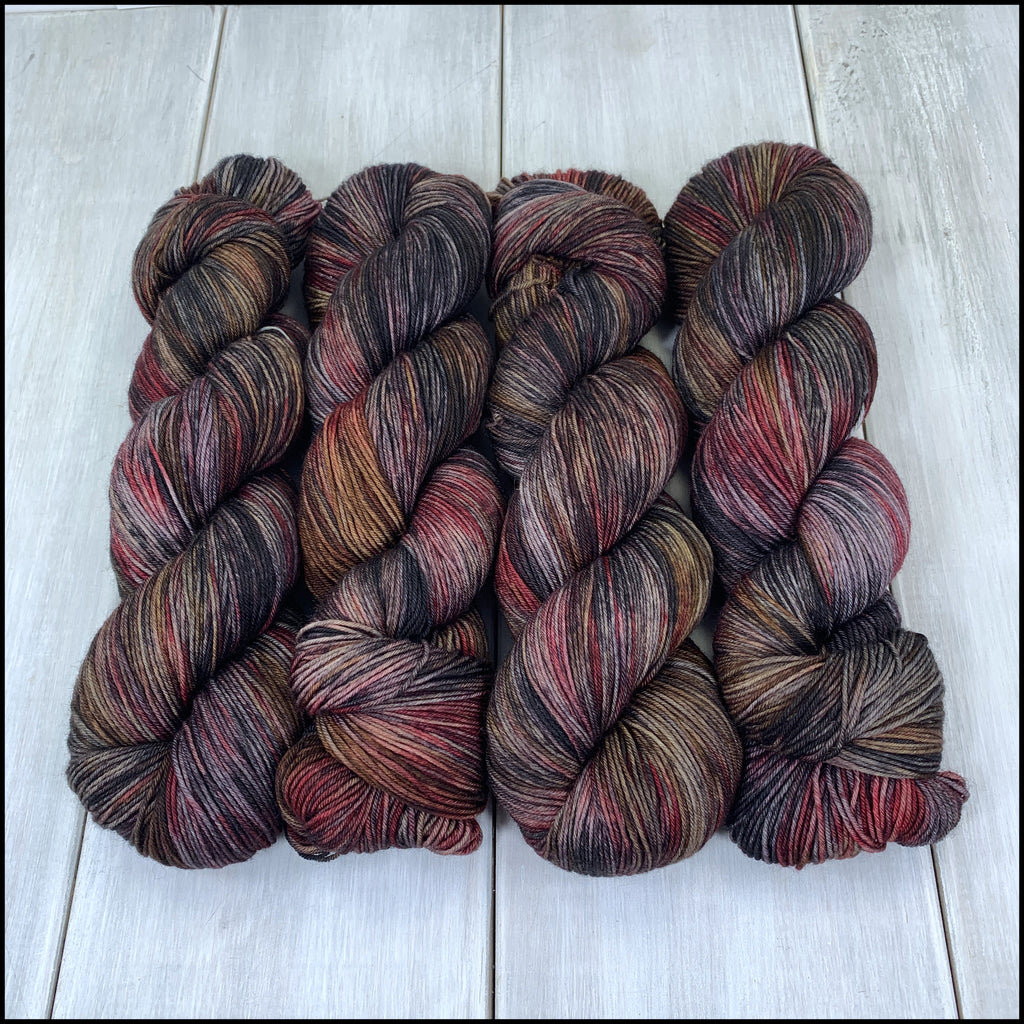 Pakokku Sock - 'Possumhaw' - Kettle Dyed