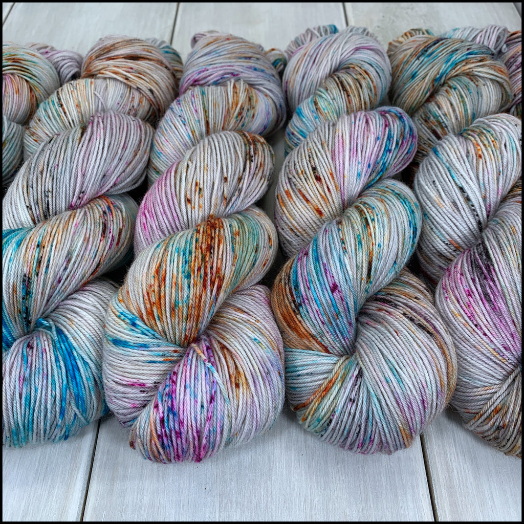 Pakokku Sock - 'Not My Circus, Not My Monkeys' - Speckle Dyed