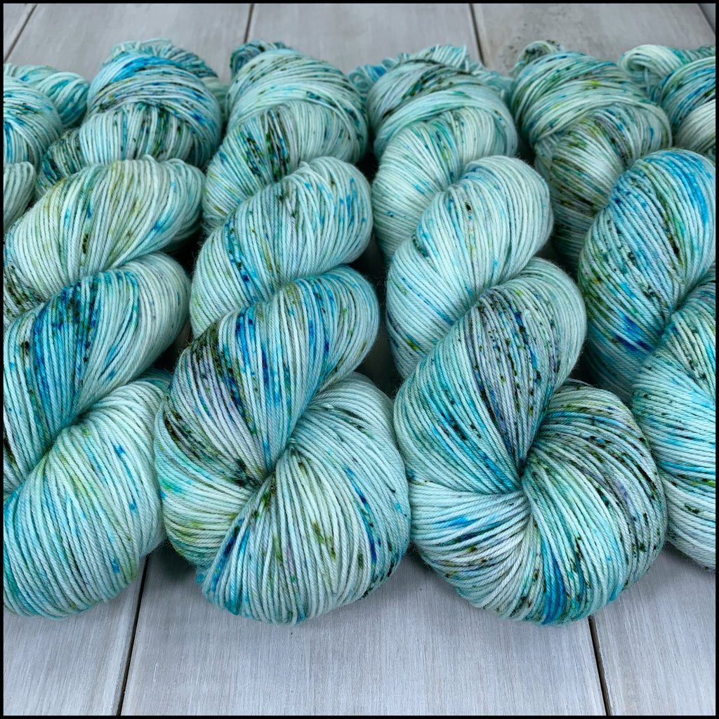 Pakokku Sock - 'Waiting in the Wings' - Speckle Dyed