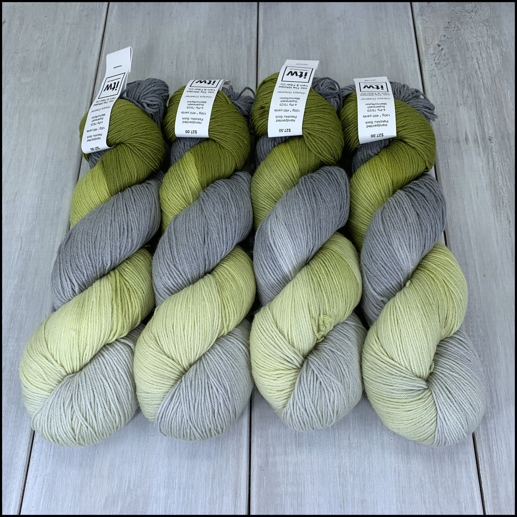 Handpainted Pakokku Sock Yarn - 'Always Greener' - SALE