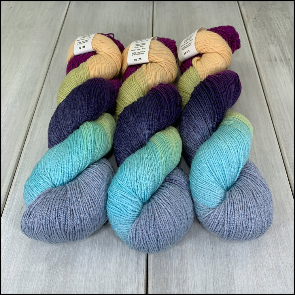Handpainted Pakokku Sock Yarn - 'Merlin's Beard' - SALE