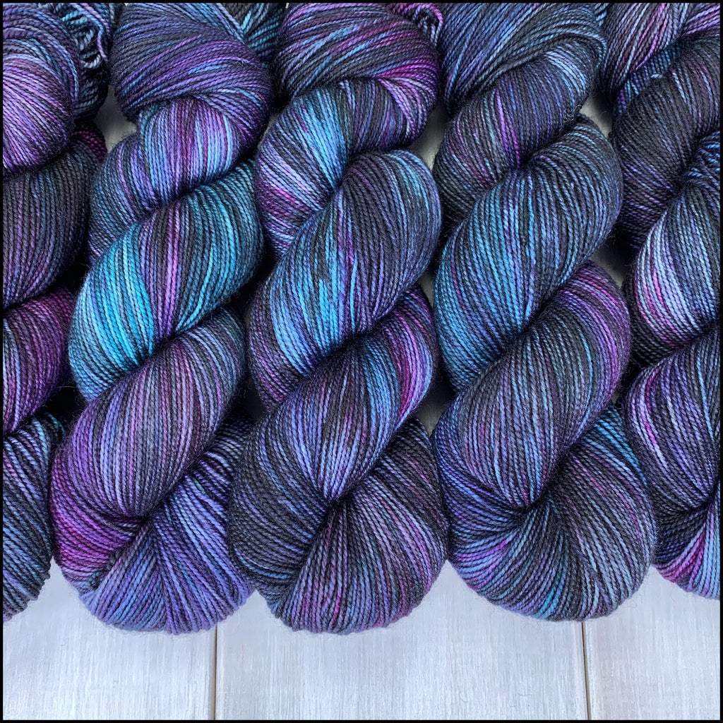 Bordeaux Fingering - 'The Darkest Timeline' - Kettle Dyed
