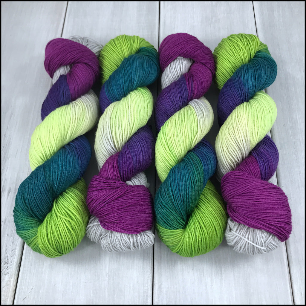 Handpainted Pakokku Sock Yarn - 'Radioactive'