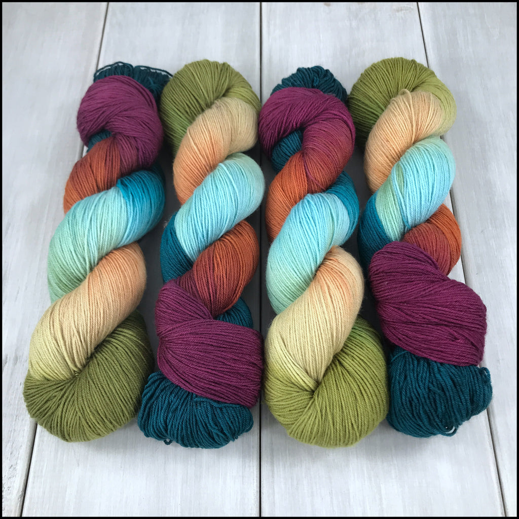 Handpainted Pakokku Sock Yarn - 'Walla Walla'