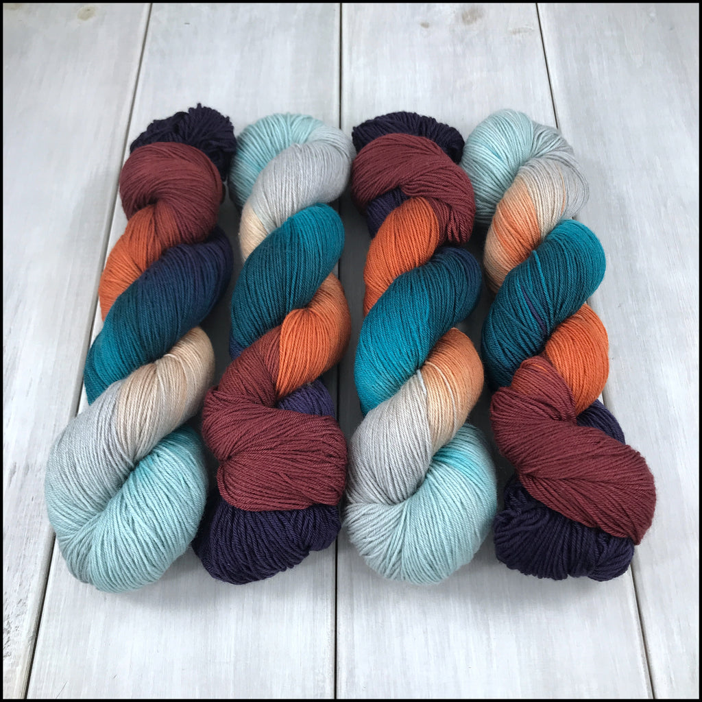 Handpainted Pakokku Sock Yarn - 'Talisman'