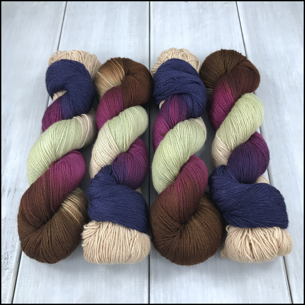 Handpainted Pakokku Sock Yarn - 'Intrepidity'
