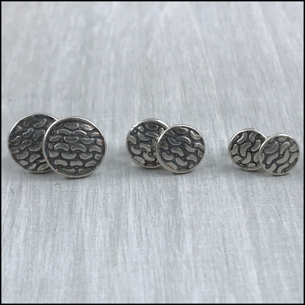 Garter Stitch Stud Earrings