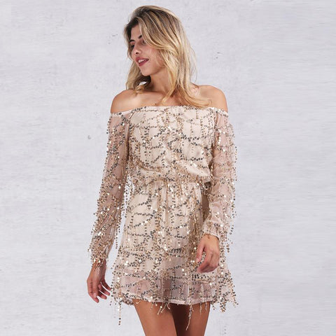 Sequin Tassel Summer Party Dress