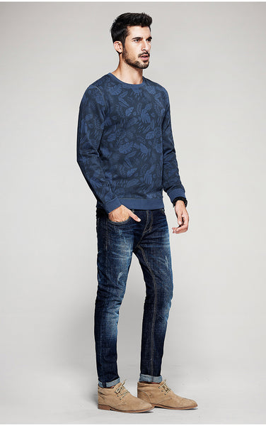 Blue Men's Fashion Sweatshirts