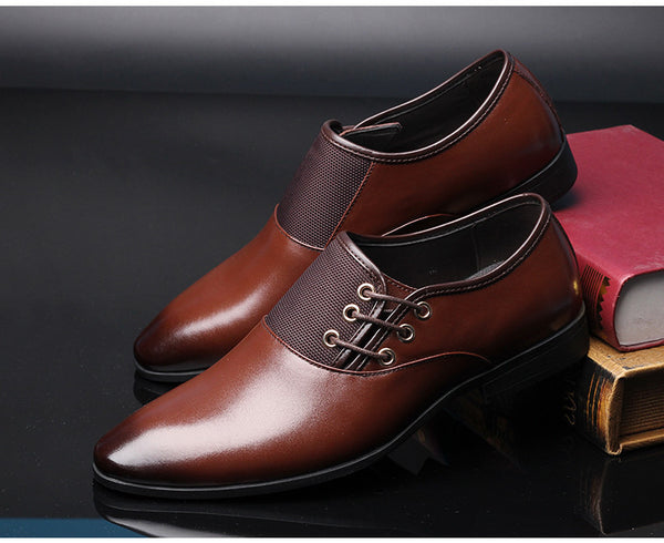 Merkmak Big Size 38-47 Men Wedding Dress Shoes Black Brown Oxford Shoes Formal Office Business British Lace-up Men's Footwear