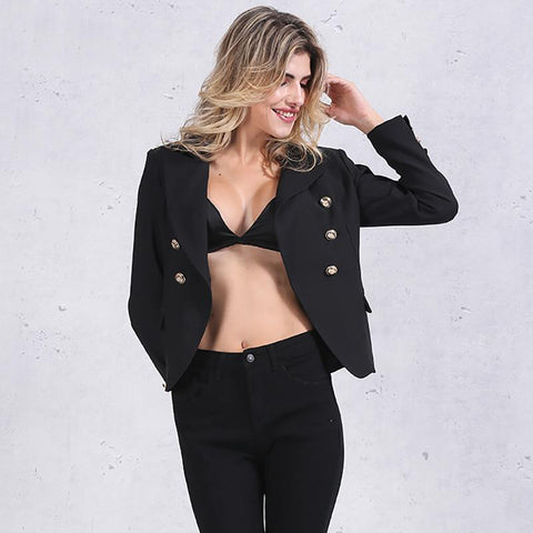 Double Breasted Womens Blazer Coats