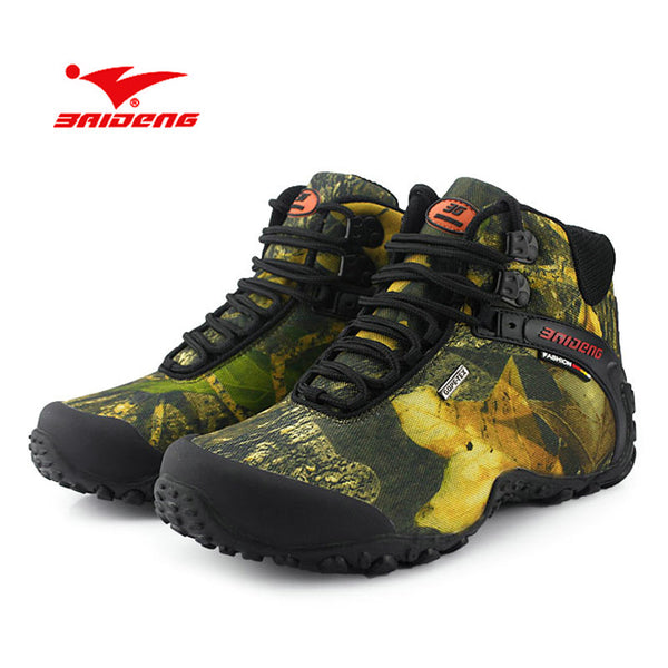 New Spring Autumn Outdoor Mountain Climbing Shoes Men Waterproof Hiking Shoes Velvet Warm Comfortable Hiking Boots Trekking Shoe