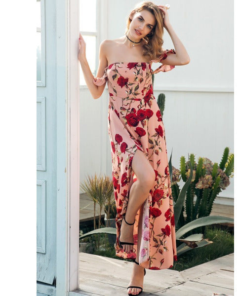 Womens Summer Maxi Dress Suit