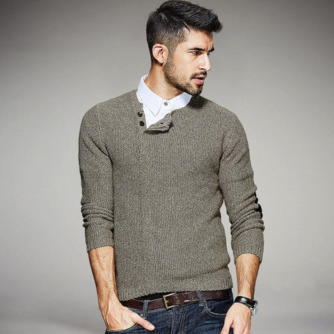 Knitted Men's Muscle Fit Sweaters
