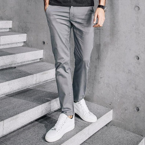 Thick Zipper Men's Casual Pants