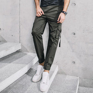 Men's Army Green Casual Cargo Pants