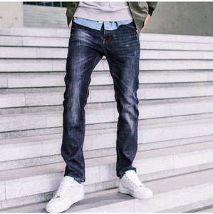 Thick Fleece Men's Casual Denim Pants