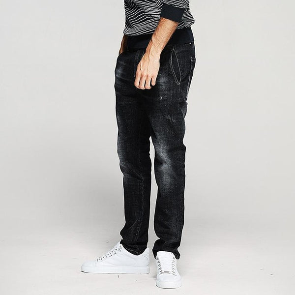 Black Men's Slim Fit Denim Pants