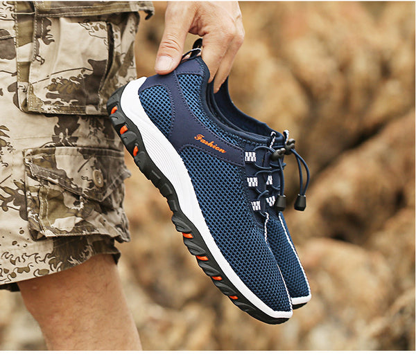Merkmak Summer Breathable Light Men Sneakers Mesh Casual Shoes New 2018 Comfortable Brand Walking Soft  Beach Outdoor Footwear