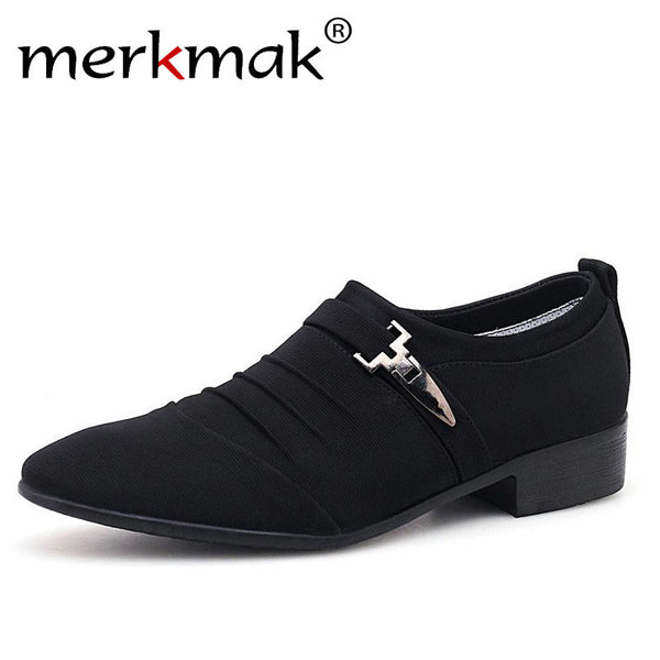 Merkmak Plus Size 38-48 Men Dress Shoes Classic Business Office Oxford Shoes For Men 2018 New Casual British Style Man Flats