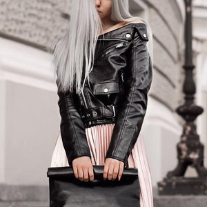 Faux Leather Women's Jackets