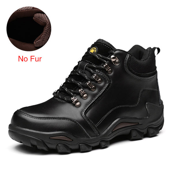 ZIMNIE Men Hiking Shoes Waterproof Outdoor Mountain Climbing Trekking Shoes Men Winter High Quality Leather Sport Footwear Shoes