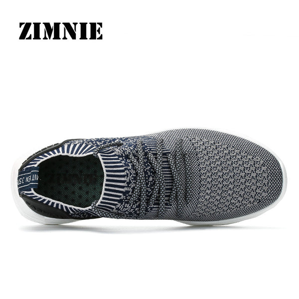 ZIMNIE Men Outdoor Sport Brand Light Running Shoes Lace Up Breathable Sneakers Damping Anti Collision Air Mesh Walking Shoes