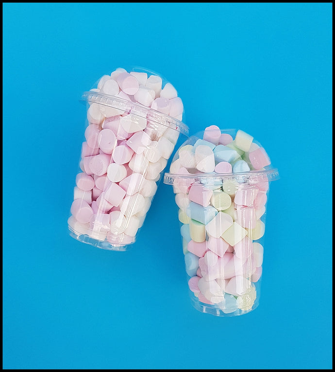 Pre-Packed Party Favour Plastic Cups-Marshmallows