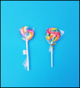 Rock Candy Lollipops