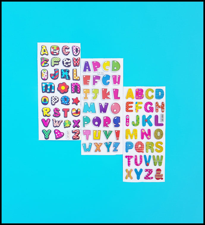 Puffy Alphabet Stickers